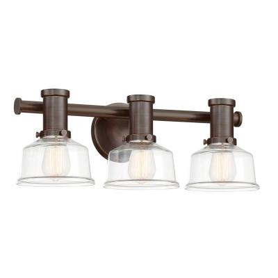 Carson 3-Light Satin Copper Bronze Bath Bar Vanity Light