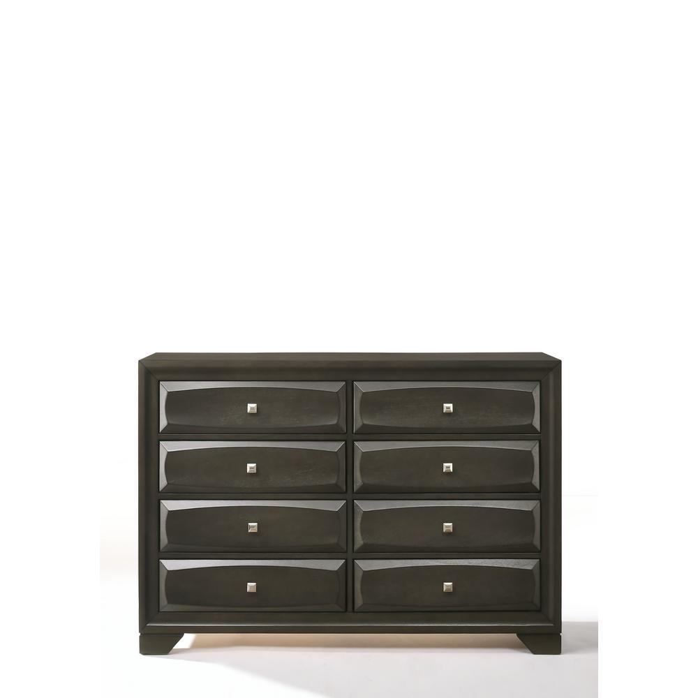 Beau Acme Furniture Soteris Antique Gray Dresser