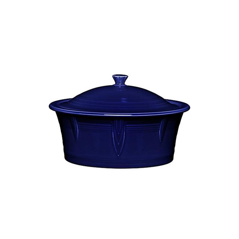Fiesta 90 oz. Cobalt Blue Large Covered Casserole with Lid 1466105U