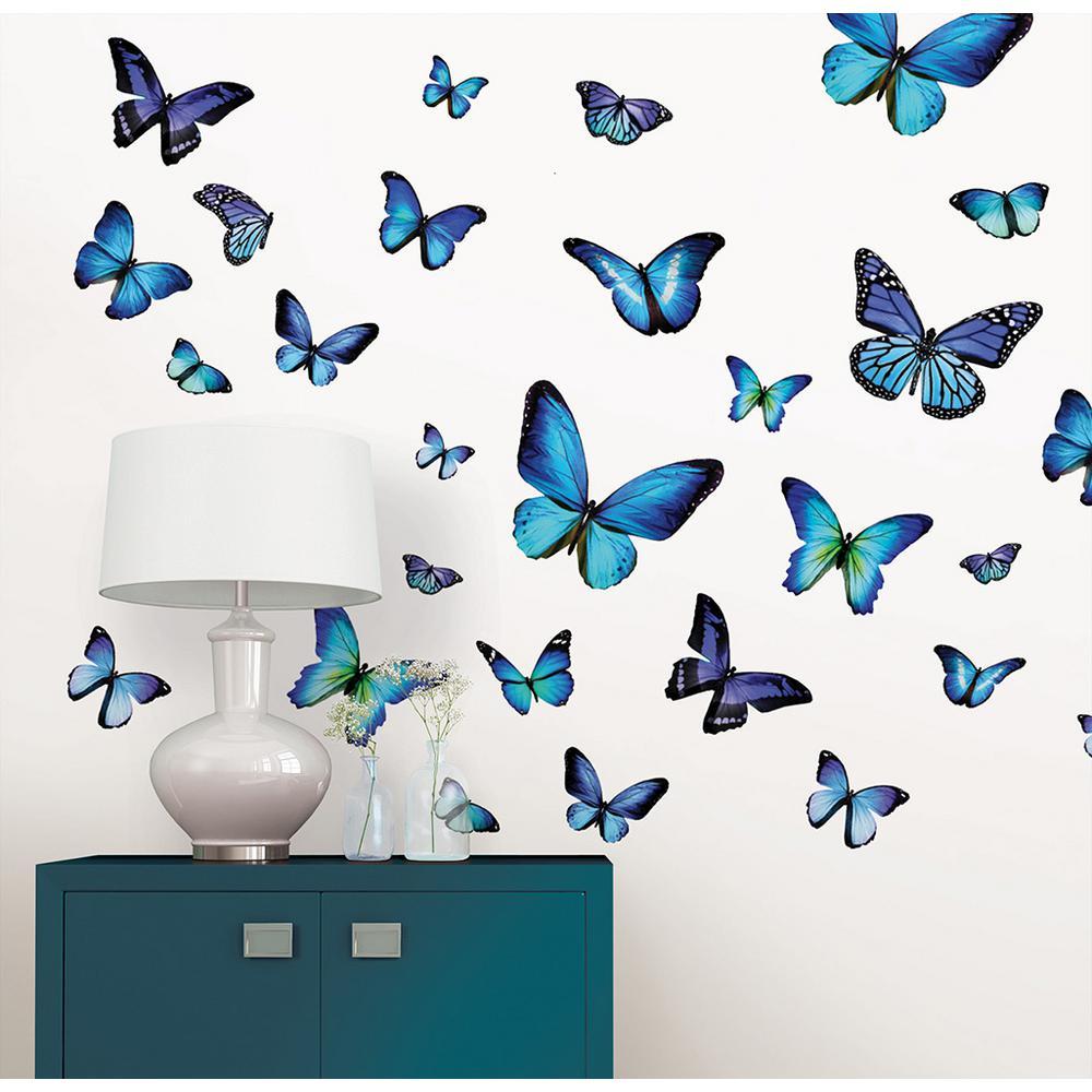 Wall Pops 34.5 in. x 39 in. Mariposa Butterfly Wall Decal