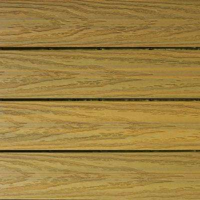 UltraShield Naturale 1 ft. x 1 ft. Quick Deck Outdoor Composite Deck Tile Sample in English Oak
