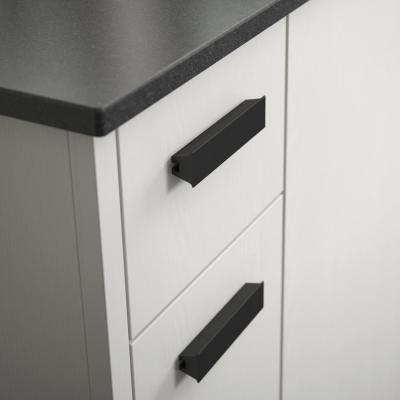Inclination 1 in. to 4 in. (25 mm to 102 mm) Matte Black Adjustable Drawer Pull