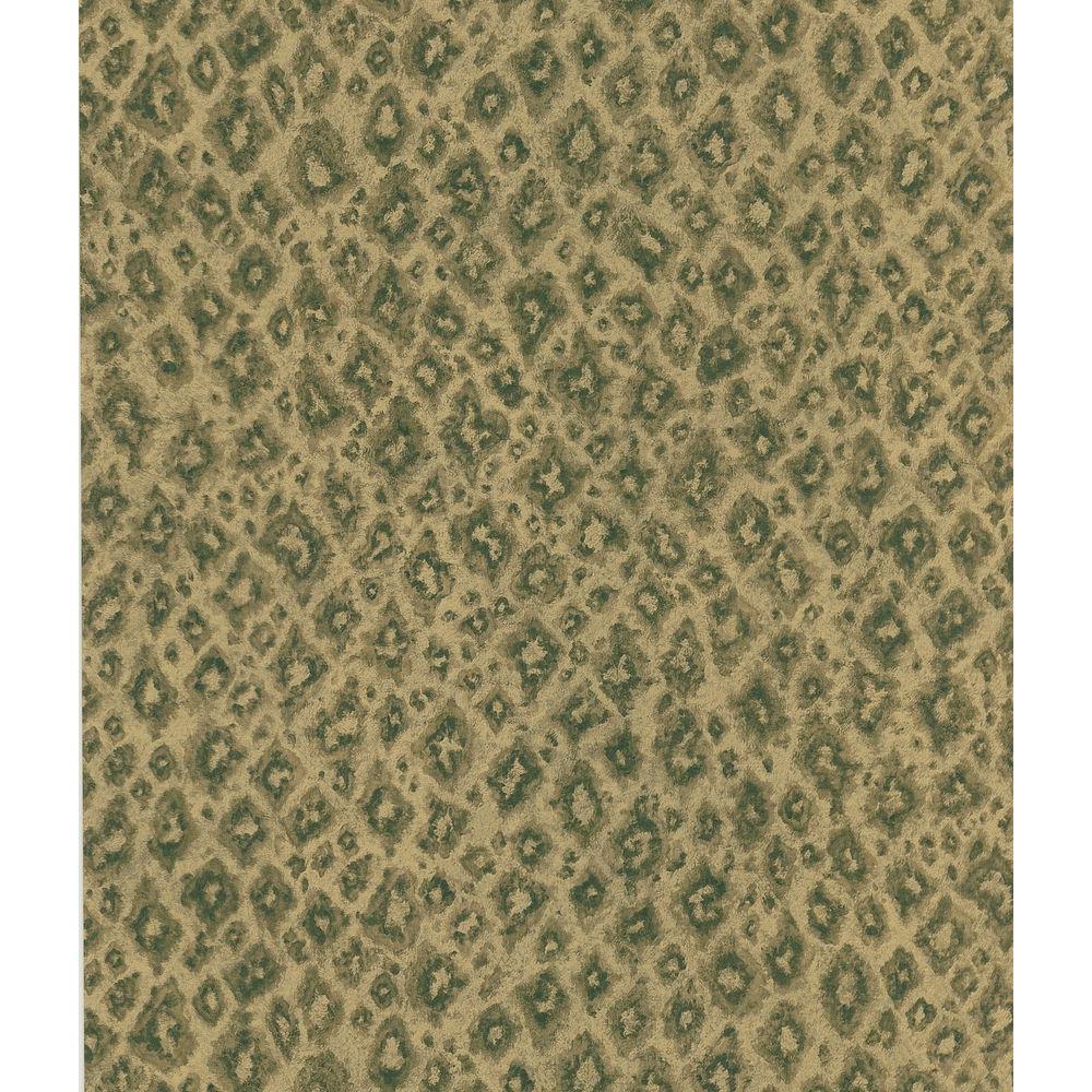 Brown Jaguar Print Wallpaper Sample