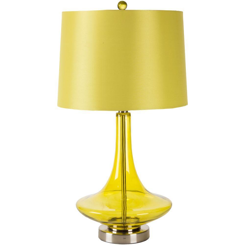 Yoshiro 25.5 in. Transparent Green Indoor Table Lamp