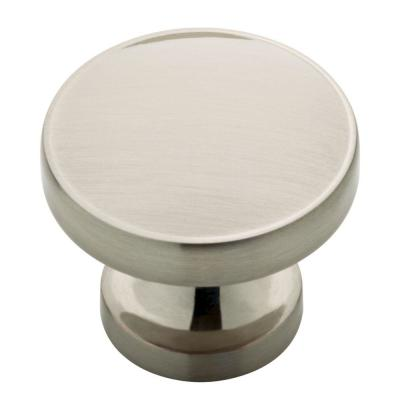 Phoebe 1-1/3 in. (34mm) Satin Nickel Round Cabinet Knob (12-Pack)