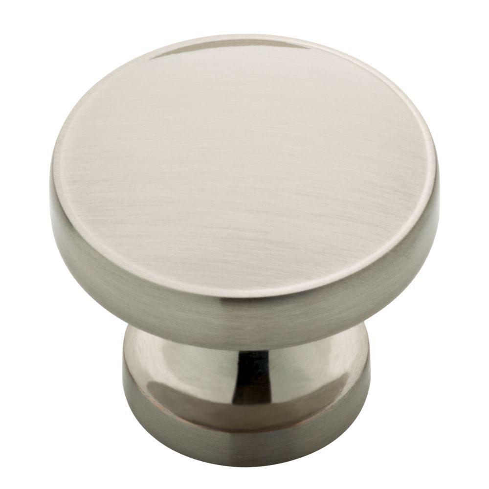 Phoebe 1-1/3 in. (34mm) Satin Nickel Round Cabinet Knob (12-Pack)