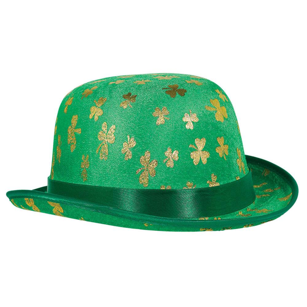 c35ed6c67418 Amscan Green and Gold Velour Gold Shamrock St. Patrick's Day Derby (2-Pack