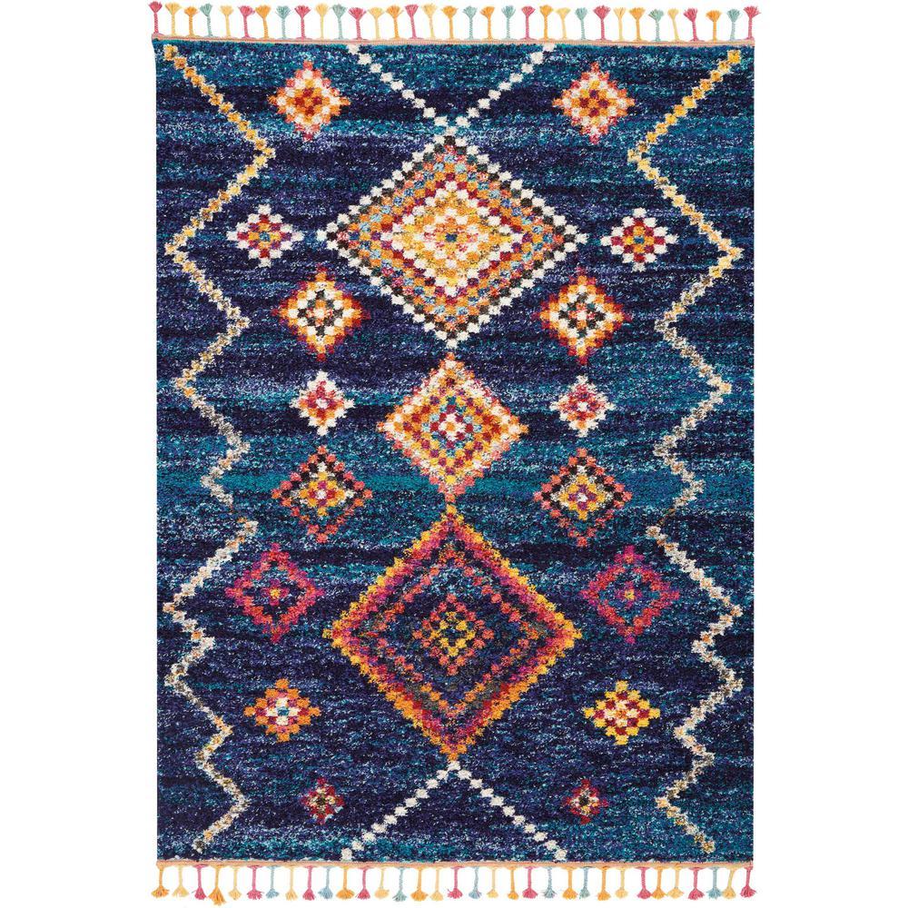Nourison Moroccan Casbah 4 X 6 Dark Blue Scandinavian Area Rug