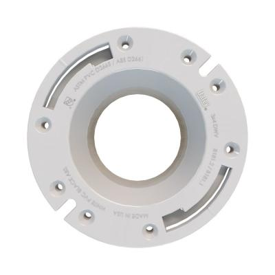 Fast Set 3 in. Outside Fit or 4 in. Inside Fit PVC Open Hub Toilet Flange