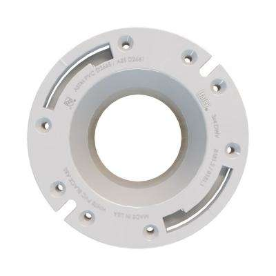 "Fast Set 3""x4"" ABS, Open Hub Toilet Flange with Stainless Steel Ring"