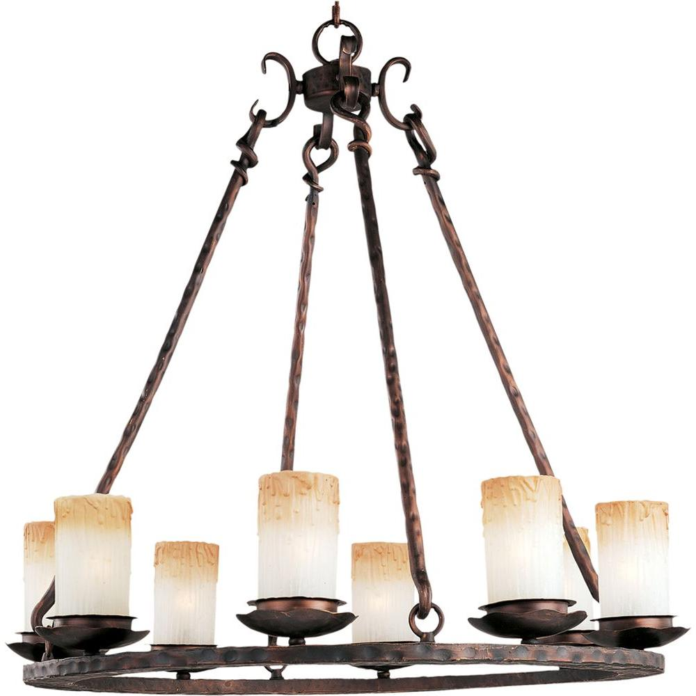 Maxim Lighting Notre Dame 8 Light Oil Rubbed Bronze Chandelier
