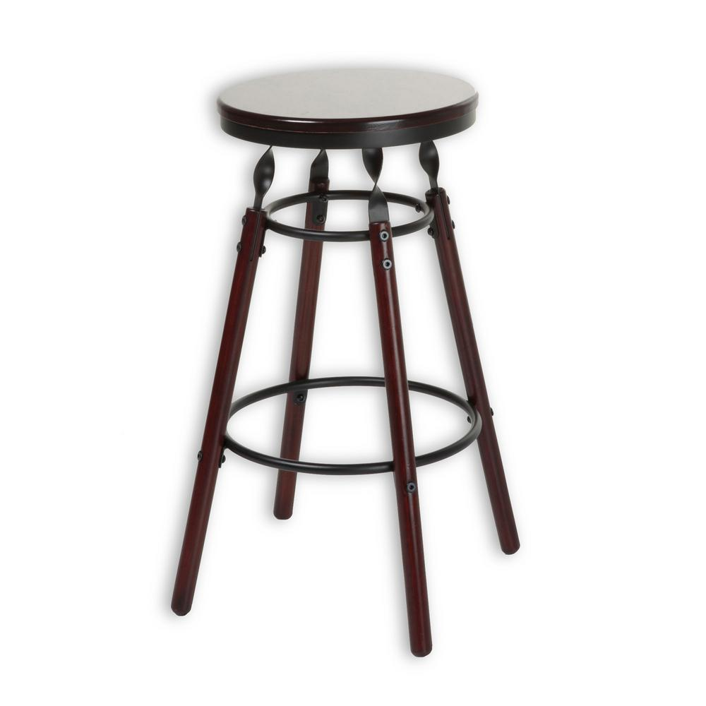 Fashion bed group boston 26 in wood bar stool with dark cherry backless seat and