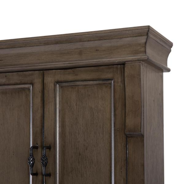 Home Decorators Collection Naples 26 3 4 In W Bathroom Storage Wall Cabinet In Distressed Grey Nadgo2633 The Home Depot