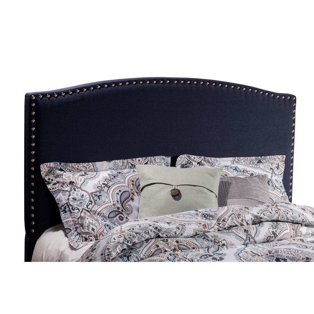 Kerstein Navy Linen Queen Headboard