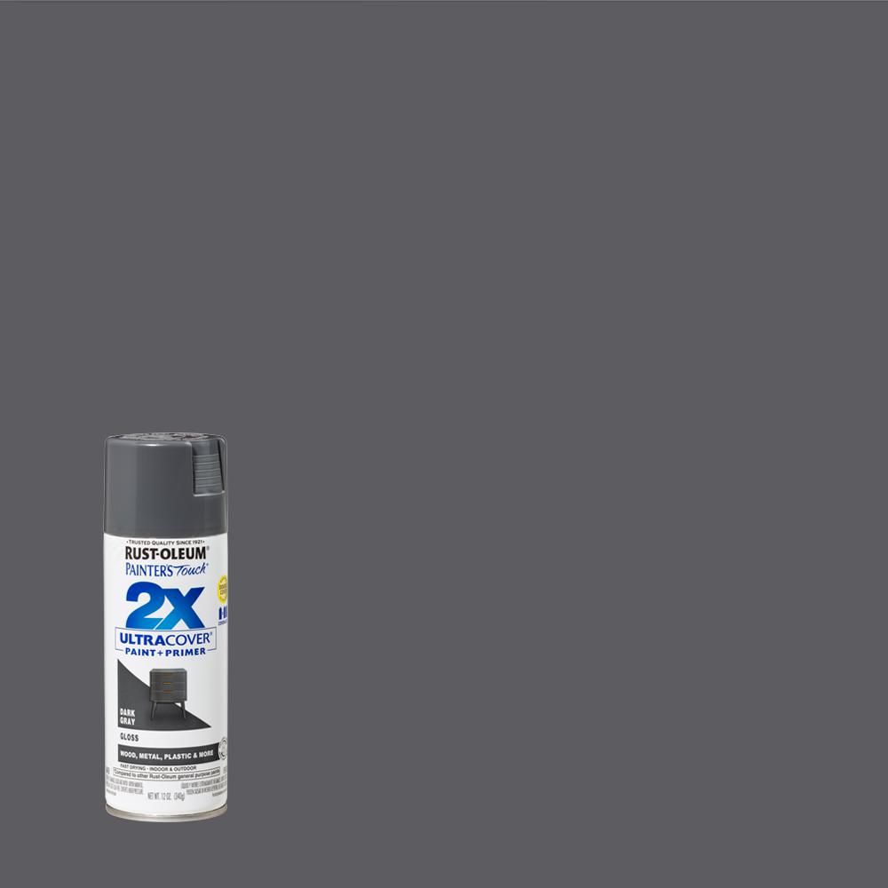 Rust-Oleum Painter's Touch 2X 12 oz. Gloss Dark Gray General Purpose Spray Paint