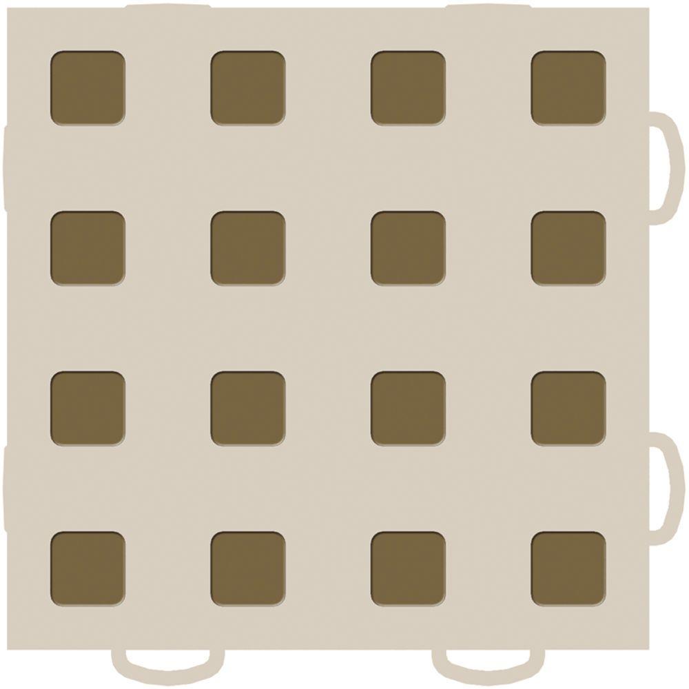 WeatherTech TechFloor 6 in. x 6 in. Tan/Medium Brown Vinyl Flooring Tiles (Quantity of 10)