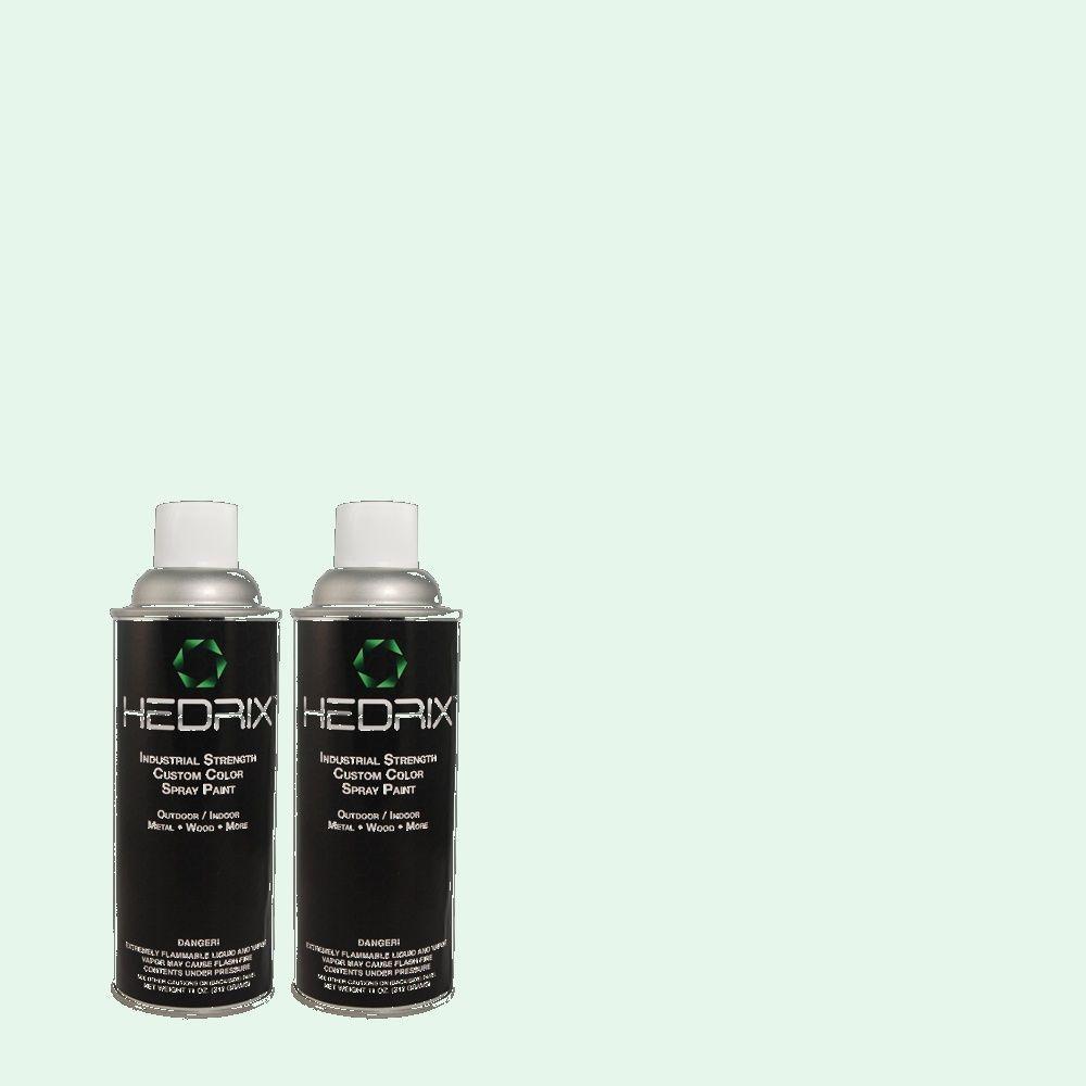 Hedrix 11 oz. Match of 2026 Wintergreen Flat Custom Spray Paint (2-Pack)