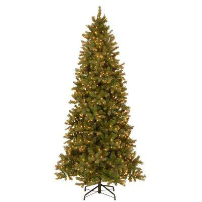 9 ft. Feel Real Down Swept Douglas Slim Fir Hinged Artificial Christmas Tree with 800 Clear Lights