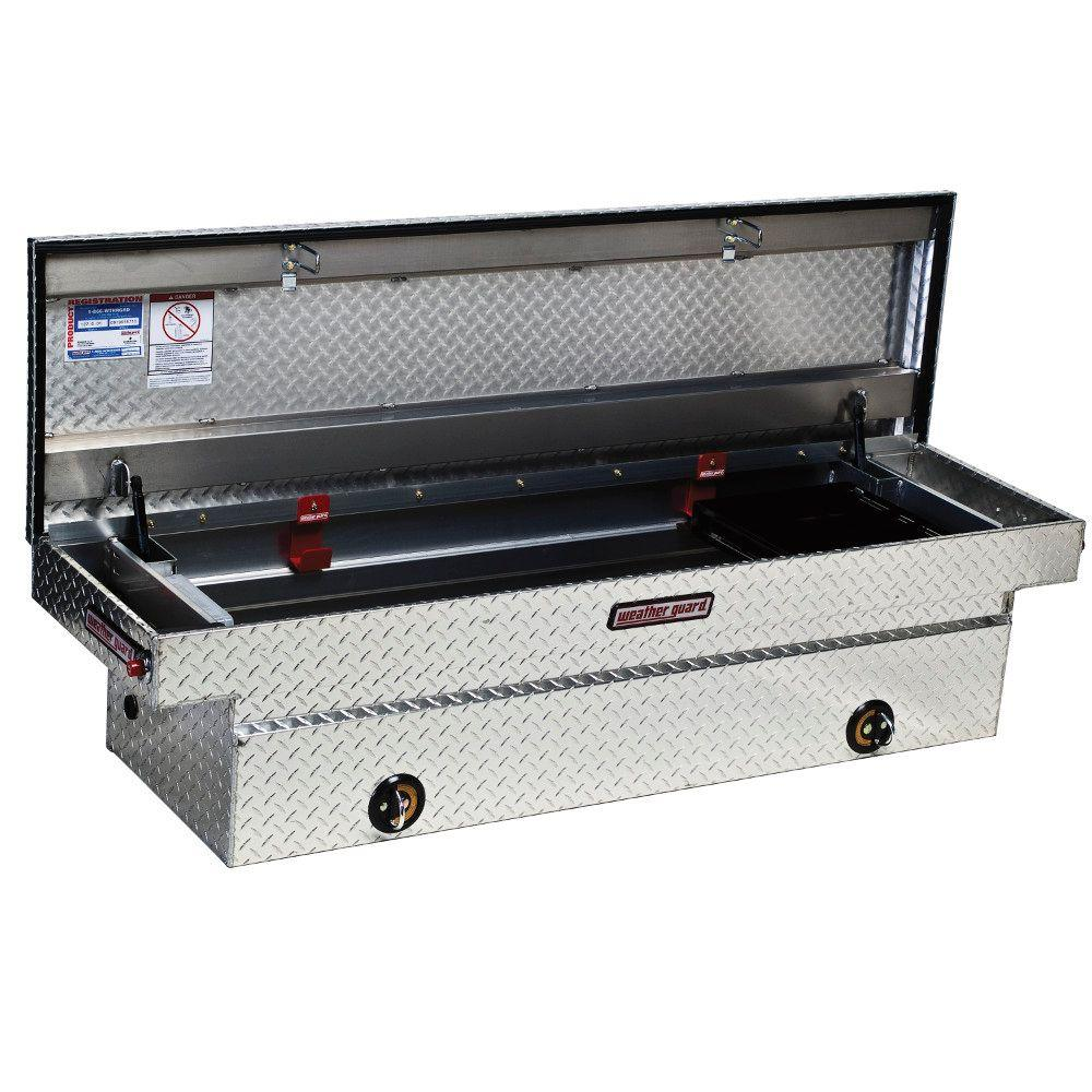 Weather Guard 72 Diamond Plate Aluminum Full Size Crossbed Truck Tool Box