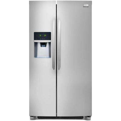 25.6 cu. ft. Side by Side Refrigerator in Stainless Steel, ENERGY STAR