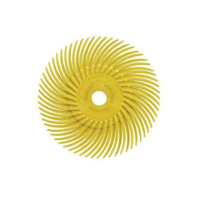 Sunburst 3 in. Radial Discs 3/8 in. 80-Grit Arbor Coarse Thermoplastic Cleaning and Polishing Tool (12-Pack)