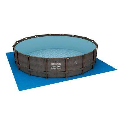 14 ft. x 42 in. Deep Power Steel Metal Frame Above Ground Swimming Pool Set with Pump