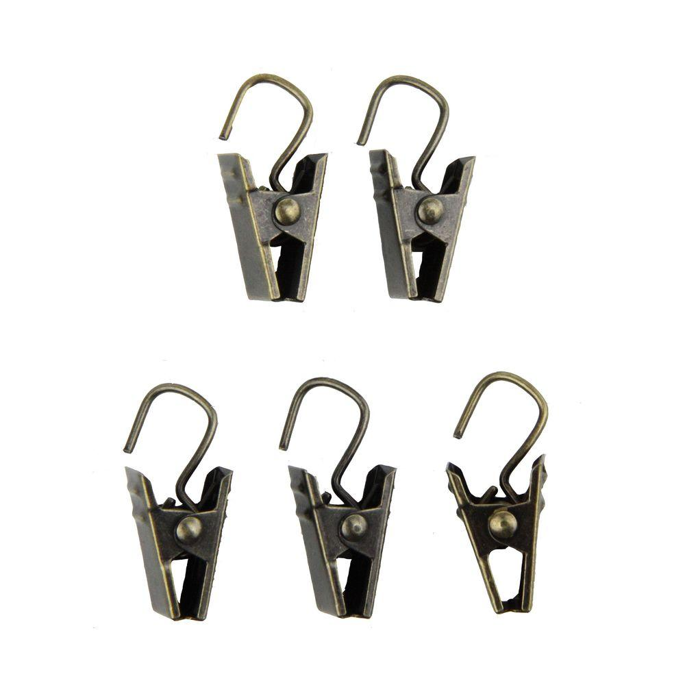 Rod Desyne Clips With Hooks In Cocoa Set Of 24 15 07