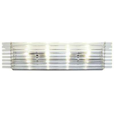 Empire State 4-Light Polished Stainless Steel Bath Light