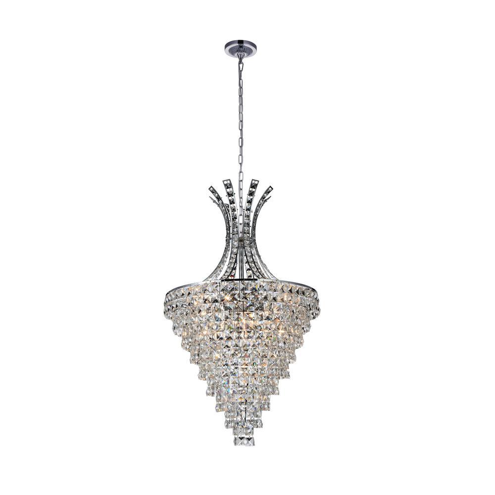 Chique 13-light chrome chandelier