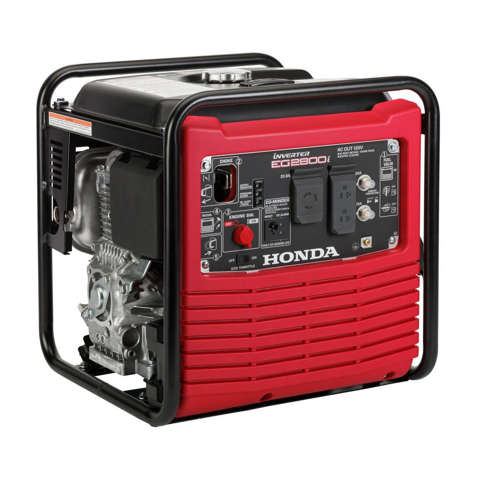 2800W Steel Honda Power Equipment EB2800IA Power Equipment 120V Inverter Portable Gas Generator