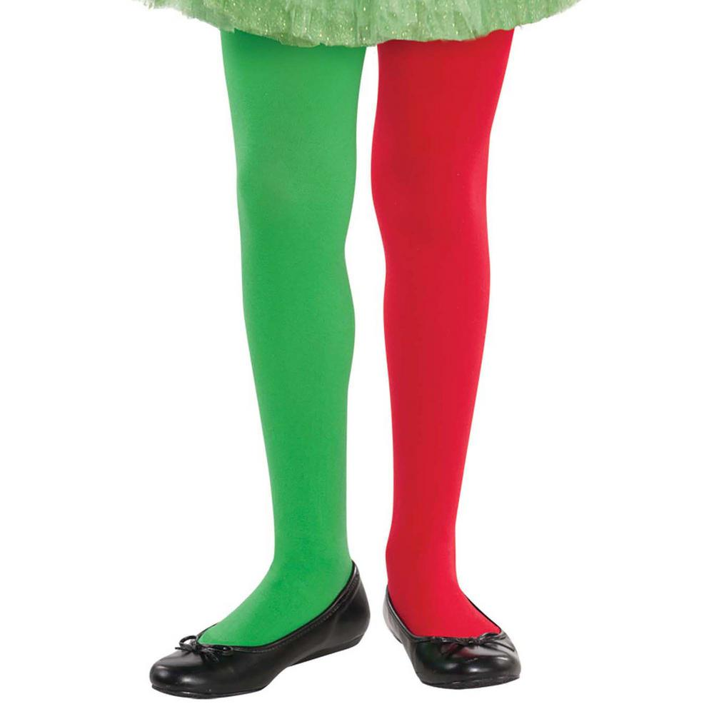 AMSCAN Child S/M Elf Christmas Tights (3-Pack), Girl's, S...