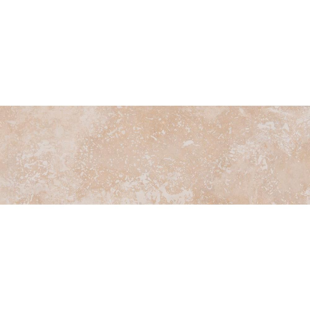 MSI Ivory 4 in. x 12 in. Honed Travertine Floor and Wall Tile (2 sq. ft. / case)
