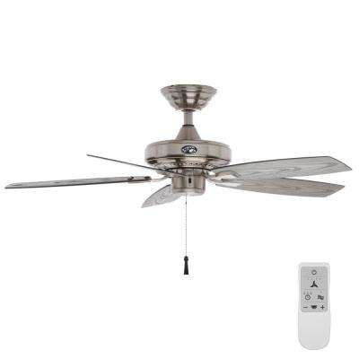 Gazebo II 42 in. Brushed Nickel Ceiling Fan with WiFi Remote Control works with Google Assistant and Alexa