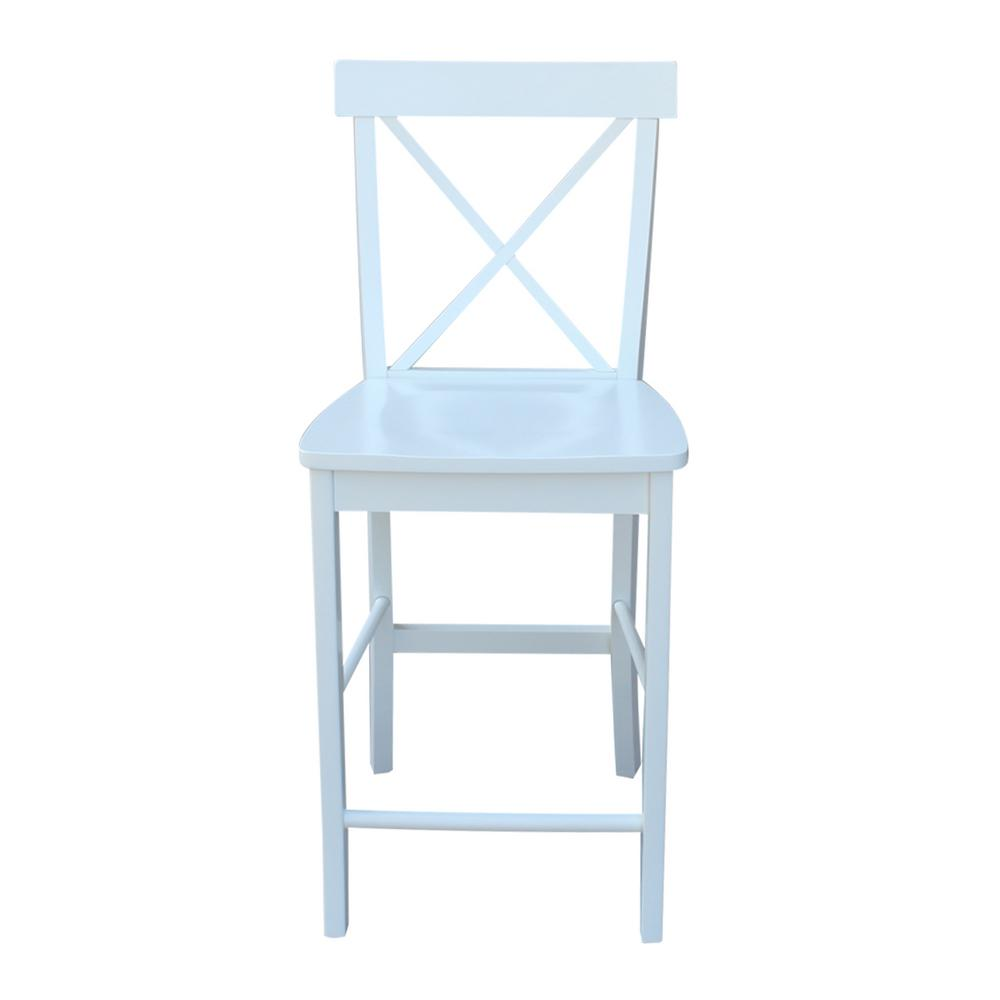Alexa pure white counter stool