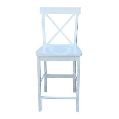 24 in. Alexa Pure White Counter Stool