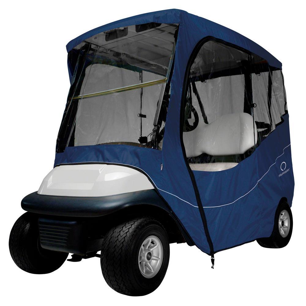Fairway Short Roof Travel Golf Car Enclosure Navy