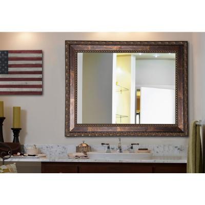 21.5 in. x 25.5 in. Traditional Copper Bronze Non Beveled Vanity Wall Mirror