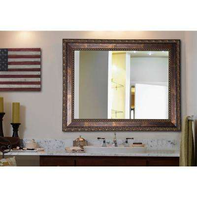 32.5 in. x 38.5 in. Traditional Copper Bronze Non Beveled Vanity Wall Mirror