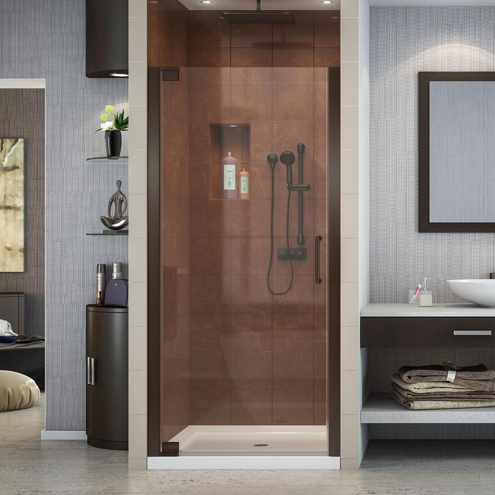 Elegance 32-1/4 in. to 34-1/4 in. x 72 in. Semi-Framed Pivot Shower Door in Oil Rubbed Bronze