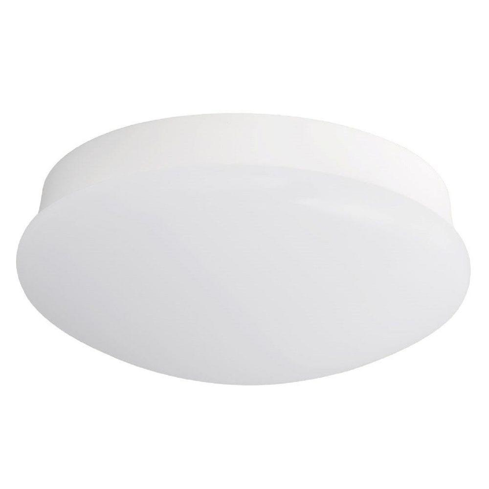 Hampton Bay In Light Round Bright White LED Flushmount Ceiling - Low profile kitchen ceiling lights