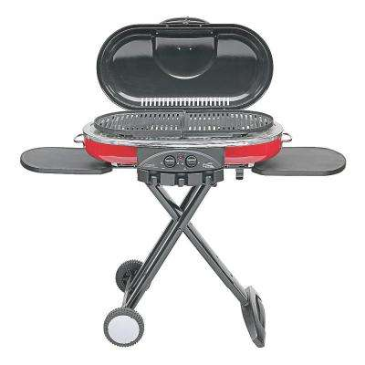 RoadTrip LXE 2-Burner Portable Propane Grill in Red