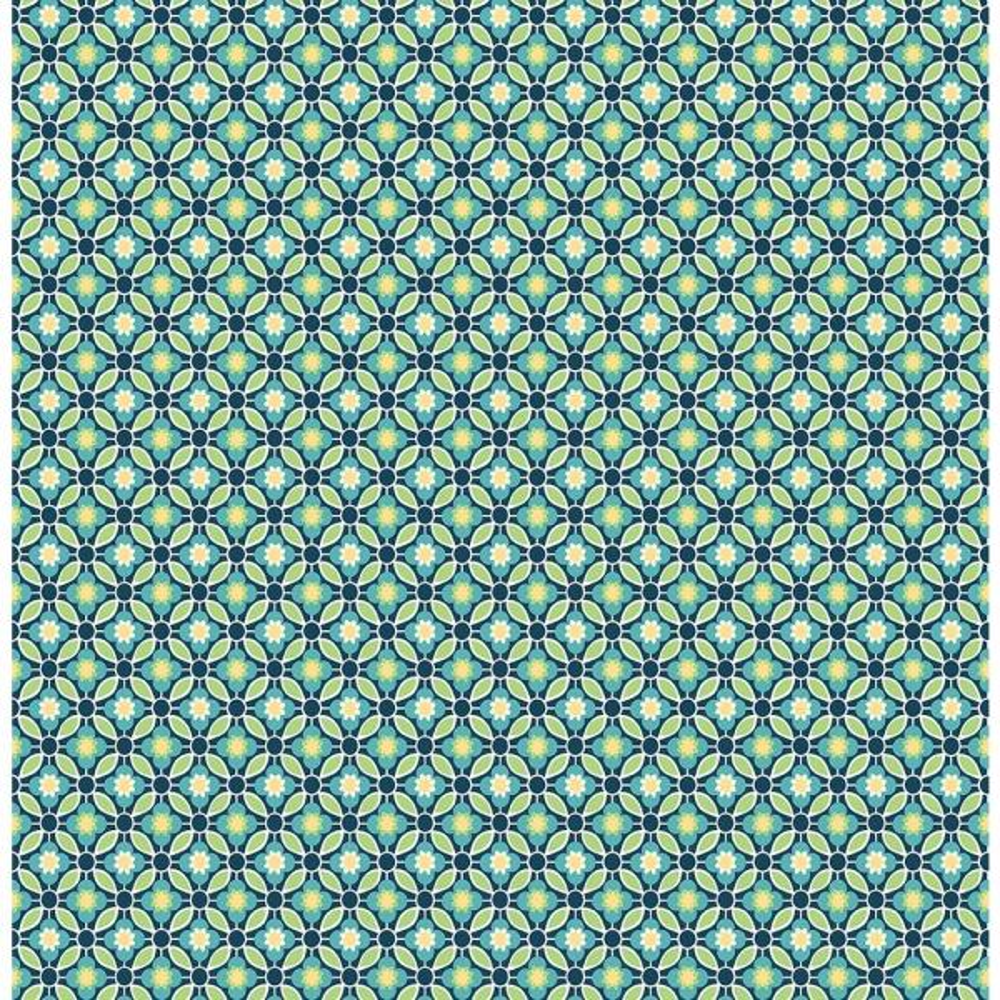 A-Street Audra Blue Floral Wallpaper 2657-22243