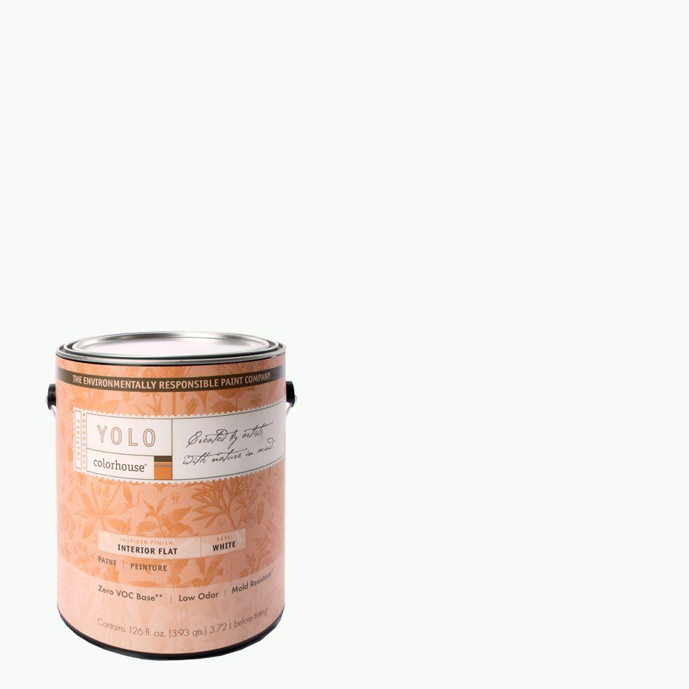 YOLO Colorhouse 1-gal. Imagine .01 Flat Interior Paint-DISCONTINUED