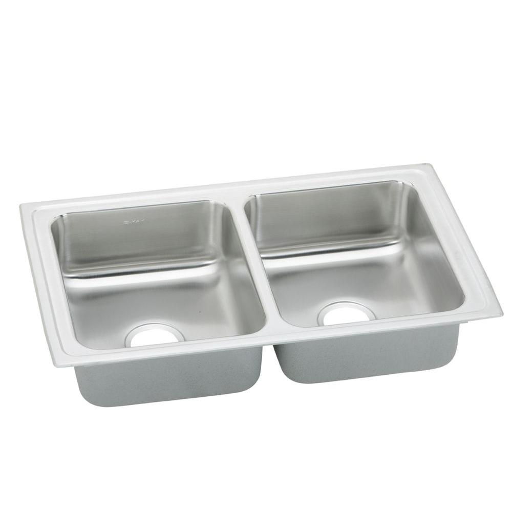 Elkay Pacemaker Drop-In Stainless Steel 33x19-1/2x7.125 0-Hole Double Bowl Kitchen Sink-DISCONTINUED