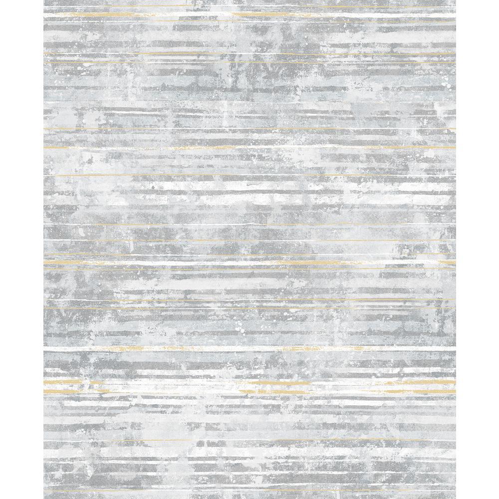 Makayla Light Grey Stripe Wallpaper Sample