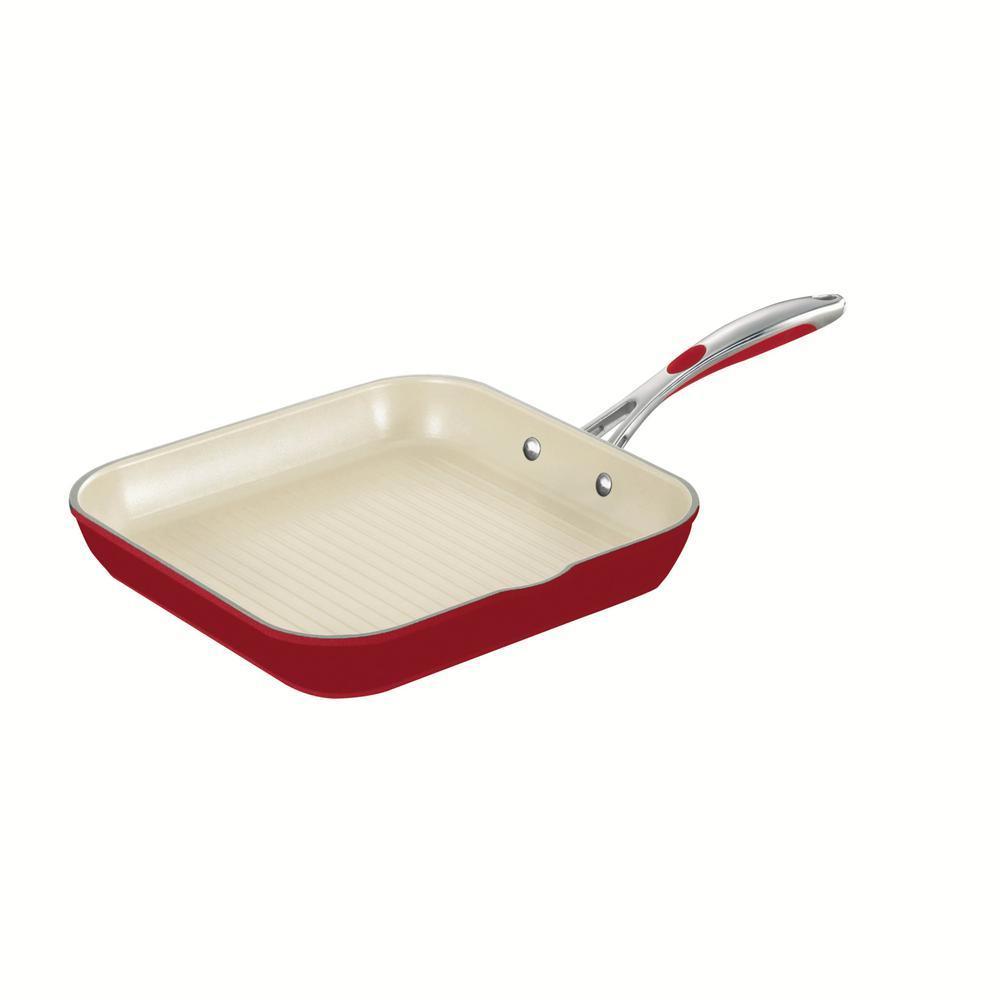 Gourmet Ceramica Aluminum Grill Pan with Nonstick Coating