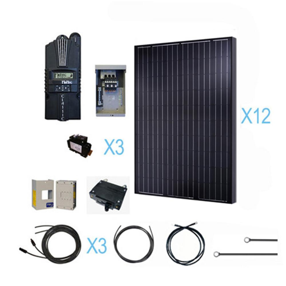 Etonnant Renogy 3000 Watt 48 Volt Monocrystalline Solar Cabin Kit For Off Grid Solar