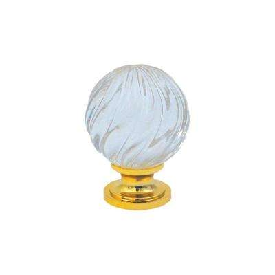 1 in. Crystal Gold Base Knob