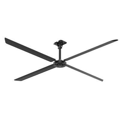 XP 14 ft. 110-Volt Single Phase HVLS Indoor Anodized Black Ceiling Fan with Wall Control