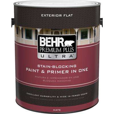 1 gal. Ultra Pure White Flat Exterior Paint